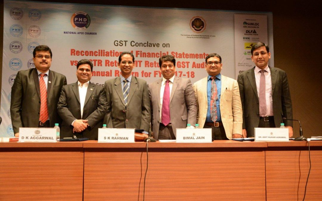 GST Conclave on Reconciliation of Financial Statements vs.  GSTR Returns or IT Returns, GST Audit Annual Return for FY  2017-18 | PHD 1 By Puneet Bansal