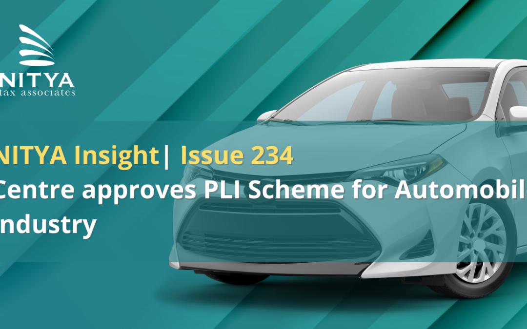 Centre approves PLI Scheme for Automobile Industry