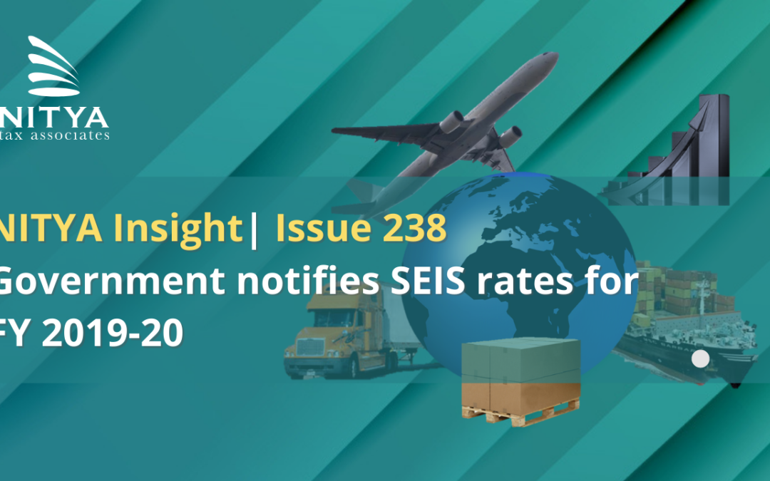 Government notifies SEIS rates for FY 2019-20